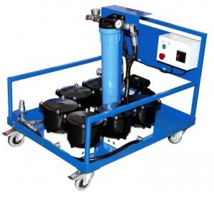 Agregat filtracyjny AD 6000-6 - zdjęcie poglądowe. Wygląd agregatu może się różnić w zależności od zastosowanej ramy wózka.