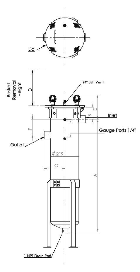 Kolumna filtracyjna FRB - schemat